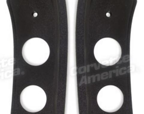 Corvette Roof Latch Trim Plate, Coupe, 1984-1986 Early