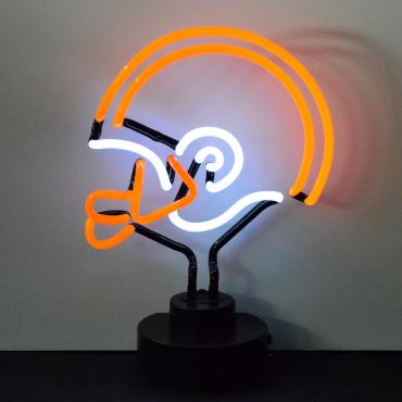Neonetics Neon Sculptures, Orange and White Football Helmet Neon Sculpture