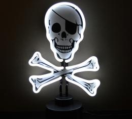 Neonetics Neon Sculptures, Skull and Crossbones Neon Sculpture