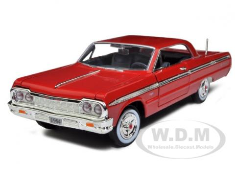 1964 Chevrolet Impala Red 1/24 Diecast Model Car