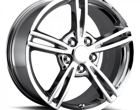 "Corvette Wheel, C6 Z06 Style, ""Y"" Spoke, Chrome Wheel, 18"" x 8.5"", +56 Offset, Front, 1997-2013"