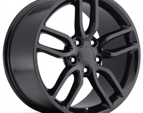 """Corvette Wheel, Z51 Style, Gloss Black, 18"""" x 8.5"""", +56 Offset, 1988-2017"""