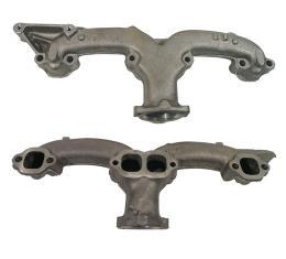 "Corvette Exhaust Manifold, Left 2"" 283/327, 1958-1963"
