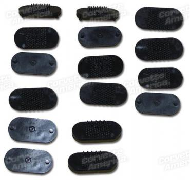 Corvette T-Top Pad Fastener Kit, 16 Piece, 1968-1977