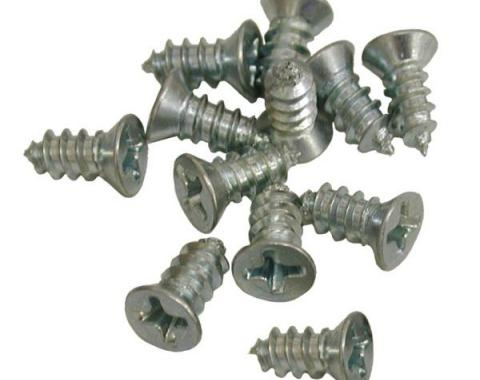 Corvette Outer Window Seal Screw Set 12 pcs, 1963-1967