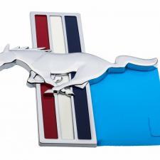 Mustang Fender Emblem, Tri-Bar Running Horse, Left, 2006-2014