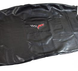 Corvette America 2005-2013 Chevrolet Corvette Embroidered Top Bag Black with Black C6 Logo 41623