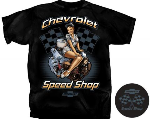 Chevrolet Speed Shop T-Shirt, Black