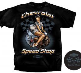 Chevrolet Speed Shop T-Shirt, Black