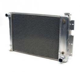 Firebird Radiator, Aluminum, 23, Griffin HP Series, For Cars With Automatic Transmission, 1967-1969