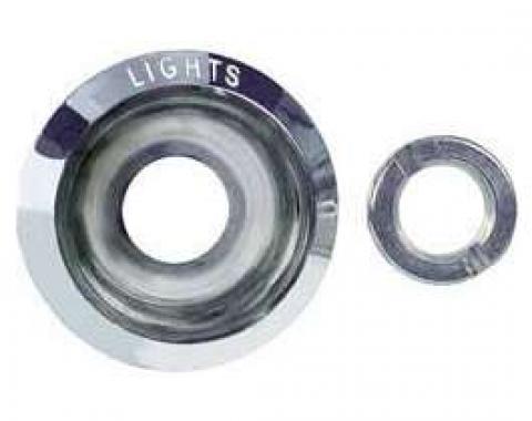 Firebird Headlight Switch Bezel and Nut, 1969