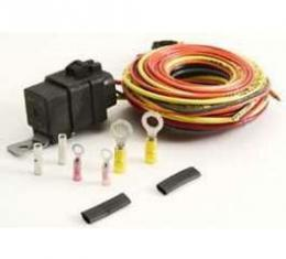 Firebird Single Electric Fan Wiring Harness Kit, Without Thermo Switch, Be Cool, 1967-1969