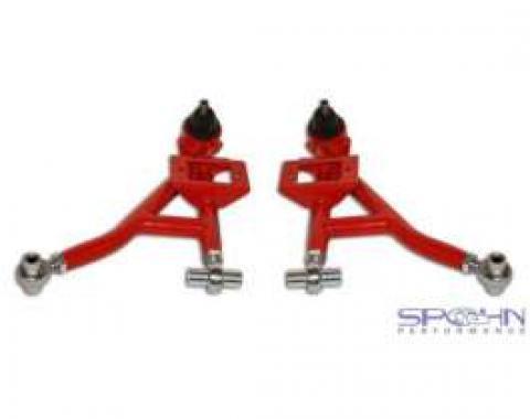 Firebird Lower Tubular Control Arms, With Rod End Bushings, Spohn, Steel, 1993-2002