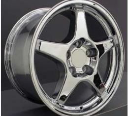 Firebird ZR1(C4)-Style Rear Wheel, 17 x 9.5 x 56mm, Chrome, 1993-2002