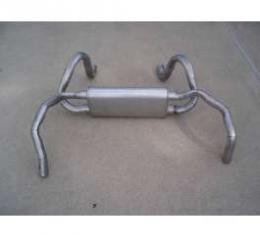 Firebird Exhaust, V8, Dual Outlet, Stainless Steel, 1978-1981