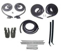 Firebird Coupe Body Weatherstrip Kit, With Reproduction Window Felt, For Cars With Deluxe Interior, 1968-1969