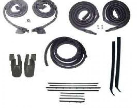 Firebird Coupe Body Weatherstrip Kit, With Replacement Window Felt, For Cars With Standard Or Deluxe Interior, 1968-1969