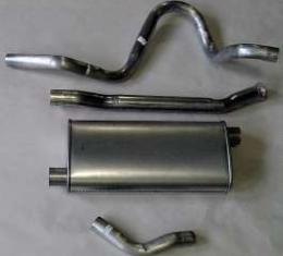 Firebird Exhaust, Aluminized, 4 or 6 Cylinder, Single Outlet, 1975-1985