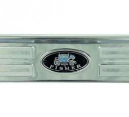 Firebird Door Sill Plate, With Riveted Fisher Emblem, 1967-1969