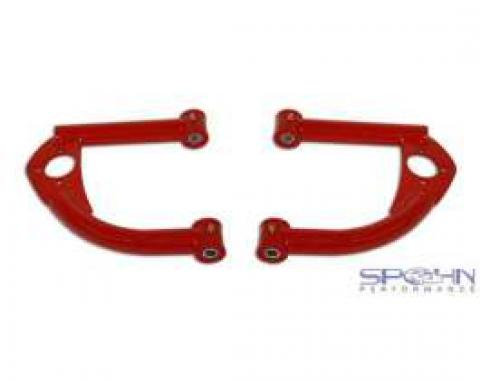 Firebird Upper Control Arms, Front, Tubular, Red, With Bushings, 1993-2002