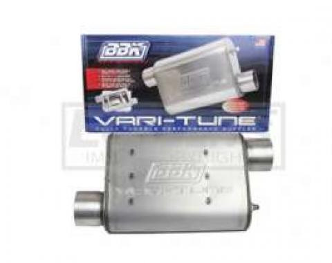 Firebird BBK 2-1/2 Vari-Tune Adjustable Stainless Steel Performance Muffler, Offset
