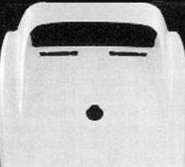 Corvette Rear Upper Deck, Coupe, ACI, 1968-1973