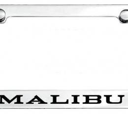 Malibu License Plate Frame, 1969-1973