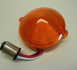 Corvette LED Park Light Lens, Amber, 1963-1967