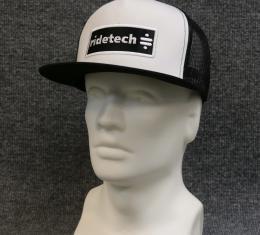 Ridetech Flat Bill Mesh Snap Back Hat - Black/White 88080037