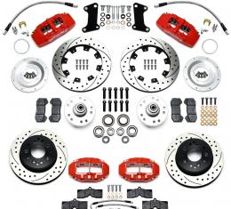 Ridetech Wilwood Complete Dynapro/D8-4 Brake System for 1963-1979 Corvette, with Red Calipers