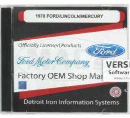 Shop Manual & Parts Manual On CD-Rom, Ford & Mercury, 1978
