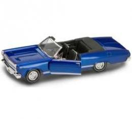 Cyclone Model, Convertible, Blue W/ Black Leather Seats, 1:18 Scale, 1966