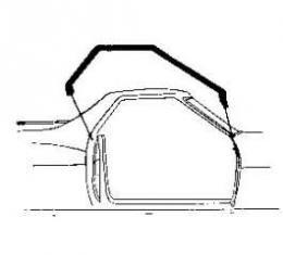 Roof Rail Seals - 2 Door Hardtop
