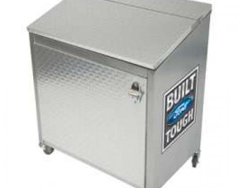 Ice Box Cooler, Diamond Plate With Built Ford Tough Logo
