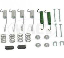 Drum Brake Hardware Combi-Kit, Front, 9 X 2-1/4, Comet, Falcon, Ranchero, 1963-1965