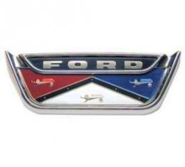 Trunk Lid Emblem - Triple Chrome Plated Bezel With Colored Plastic Emblem -Door Sedans