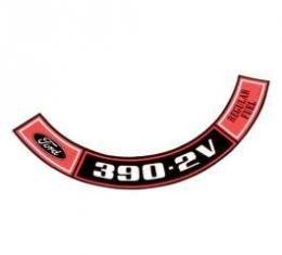 Decal - Air Cleaner - 390 - 2 Volt - Regular Fuel
