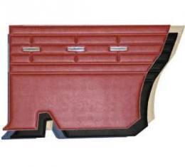Rear Side Panels, Hardtop, Red, Fairlane 500, 1964