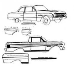 Front Fender Front Section, Right Side, Falcon, Ranchero, 1960-1963