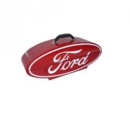 Ford Oval Shaped Portable Tool Box, Red & White