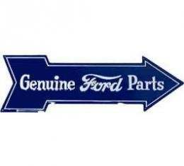 Sign, Genuine Ford Parts, Arrow