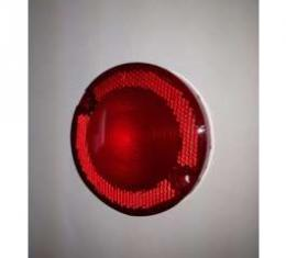 Tail Light Lens - 3 1/2 Diameter - With Reflector In Lens