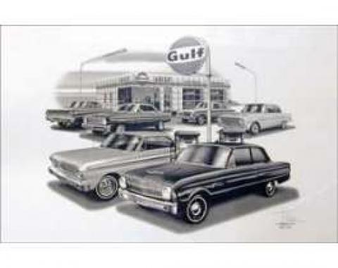 Black & White Print, Gulf Gas Station, Falcon, 1961-1965