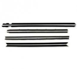 Belt Weatherstrip Kit - Doors and Rear Quarter Windows - Inside Pieces Have Stainless Steel Bead - 8 Pieces - Convertible