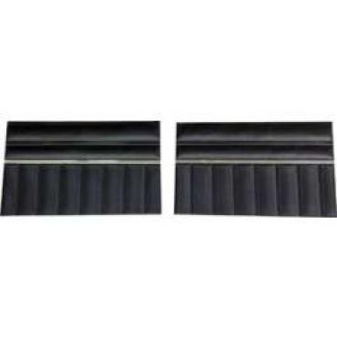 Rear Side Panels, Convertible, Falcon, Black, 1965