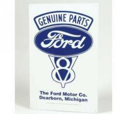 Sign, Genuine Ford Parts, V8, Dearborn