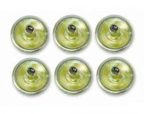 Quarter Panel Snap Set - 6 Pieces - Stainless Steel - Correct Flange Diameter