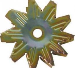 Alternator Fan - Gold Zinc Dichromate Finish - 10 Blade
