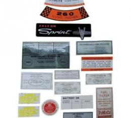 Decal Kit, All Except Convertible - 351-2V CID, Torino, 1971