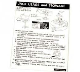 Jack Instructions Decal - D2AB-17095-CB
